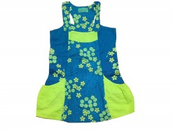 "Robe ""Blue-Green Flowers"" • Taille 116 • ♀"