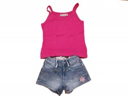 "Ensemble Short-Top ""Pink Flowers"""