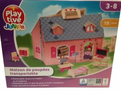 Maison de poupée transportable en bois