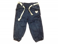 "Pantalon Jeans ""Heart shoes"" • T. 86 • ♀"