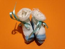 """Chaussons bébé """"White-Blue"""" • ♀♂"""