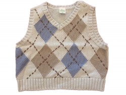 "Pull ""Carreaux""  • Taille 62 • ♂"