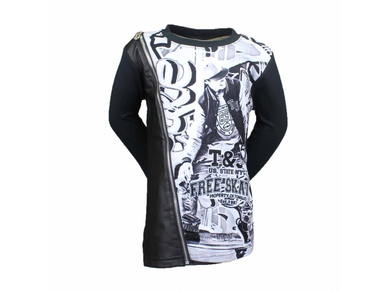 Pull manches longues Tom & Jo - noir