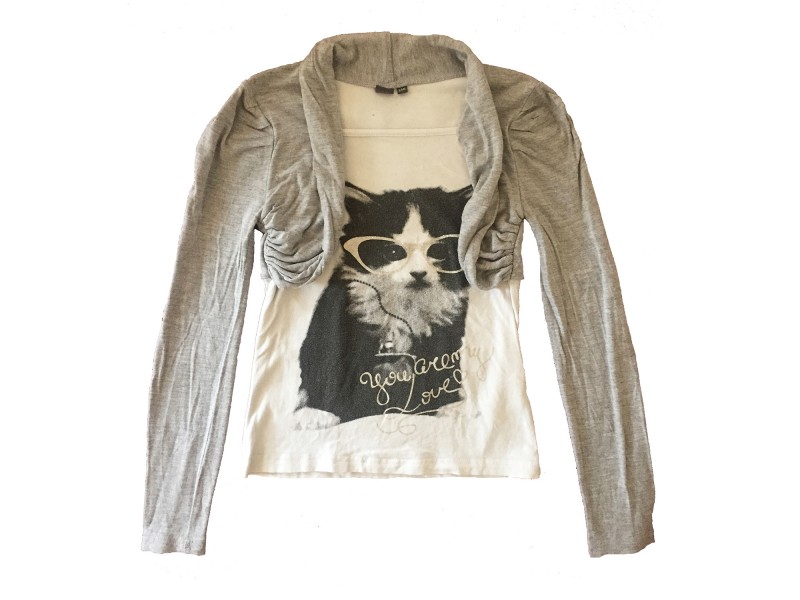 Pullover mit Katze Bild