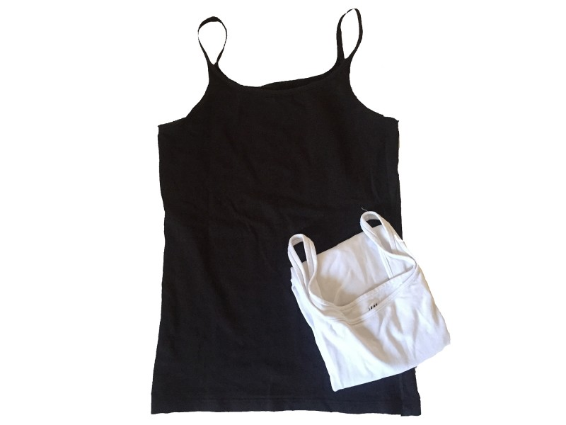 2 T-shirts basic H&M ärmellos