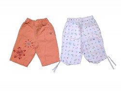 "2 pantalons ""Flowers"""