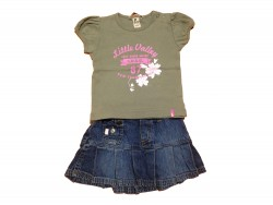 "Ensemble jupe + T-Shirt ""Little Valley"" • Taille 80 • ♀"