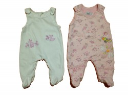"2 pyjamas sans manches ""Bird-Fawn"""