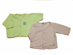 "2 Jacke ""Bird pink-Reindeer yellow"""