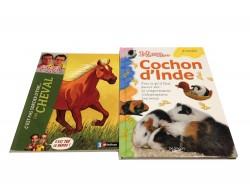 """2 livres """"Cheval""""+""""Mon cochon d'inde"""""""
