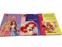 """3 livres """"Barbie"""" + """"Le rêve d'Ariel"""" + """"Winx"""""""