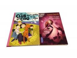 """2 livres """"Le Club des cinq""""+""""Alice au pays des merveilles"""""""