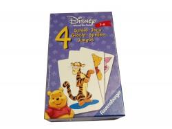 4 jeux société Disney avec cartes